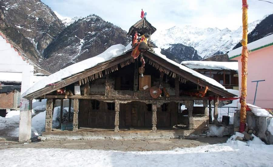 Shani Temple in Kharsali Village