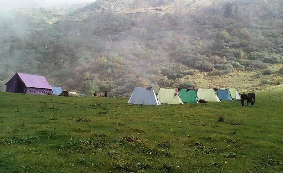 Camping at Darwa Top