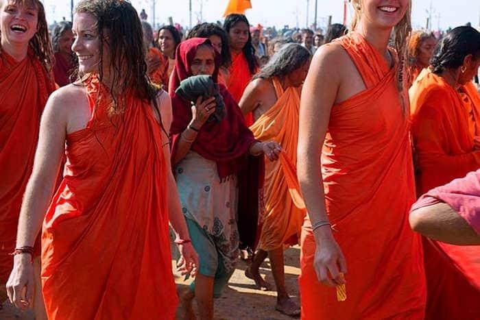foreigner female naga sadhu