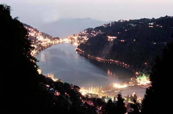 Nainital view at Night