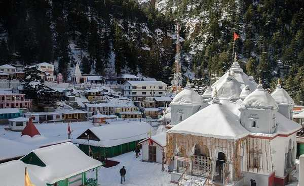 Gangotri Dham in winter