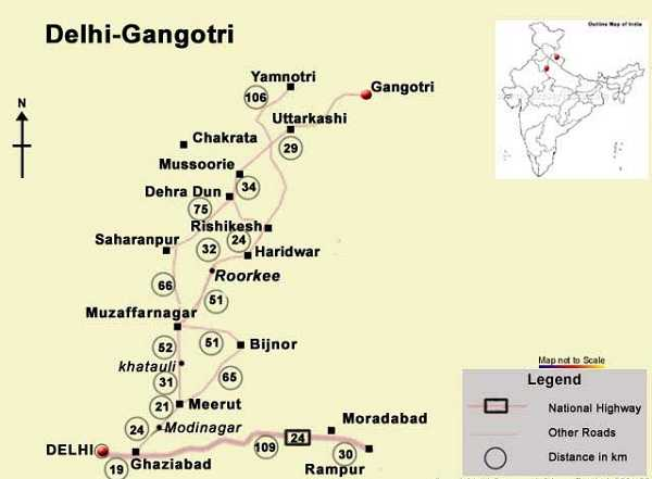 gangotri route map